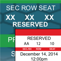 Reserved Seating Tickets
