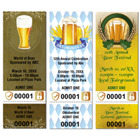 Beer Festival Tickets with Security Features
