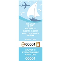 Air & Sea Show Tickets with Security Features