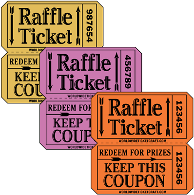 Raffle Tickets - On A Roll