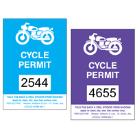 Reflective Motorcycle Parking Permit Stickers