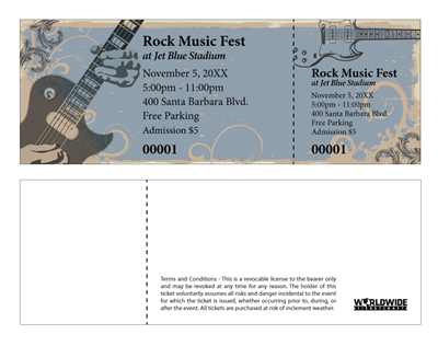Rock Music Festival Tickets