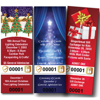 Christmas Tickets with Security Features