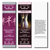 Reserved Seating Ballet Tickets