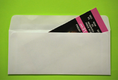 Ticket Envelopes