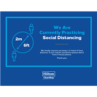 Hilton CleanStay Social Distancing Stickers
