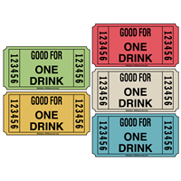 Drink Redemption Roll Tickets