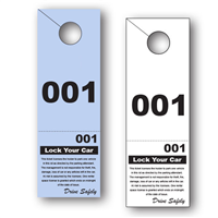 2 Part Valet Parking Hang Tag