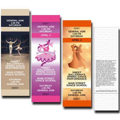 General Admission Dance Recital Tickets