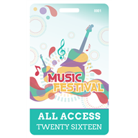 Outdoor Music Fest Plastic Badge