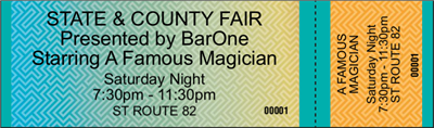 Fair Tickets - General Admission - Horizontal