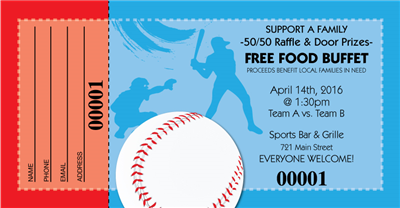 Baseball Raffle Tickets