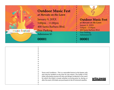 Outdoor Music Concert Tickets