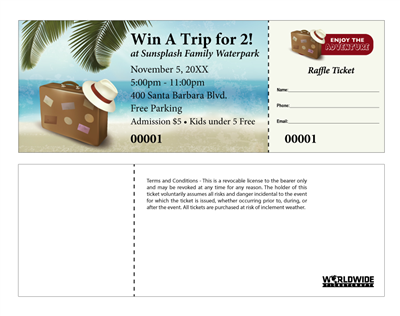 Travel Raffle Tickets