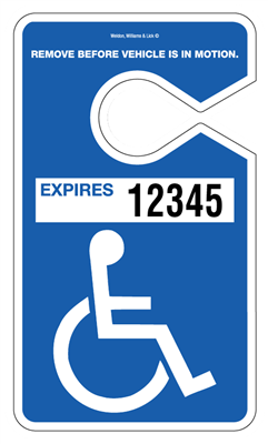 Handicapped Parking Hang Tags