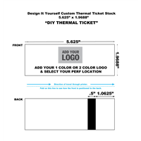 DIY Thermal Ticket Stock 5.625 x 2""