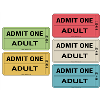 Large Roll Tickets - Admit One Adult