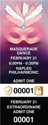 Masquerade Tickets with Security Features