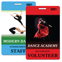 Dance Backstage Passes with Lanyards