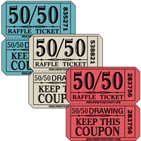 50/50 Raffle Tickets - On A Roll