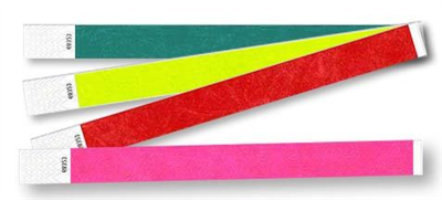 "3/4"" Solid Color Tyvek Wristbands"
