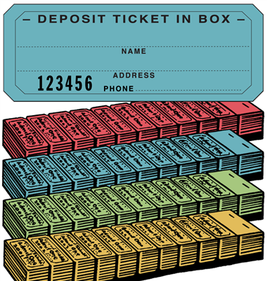 Ticket Strip Book - Deposit Ticket In Box