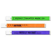 "DIY Haunted House 3/4"" Tyvek Wristbands"