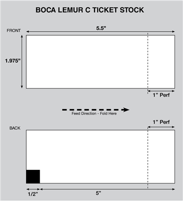 Lemur C Thermal Ticket Stock
