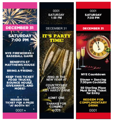 Design It Yourself New Year's Eve Tickets