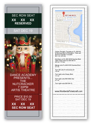 Reserved Seating Nutcracker Ballet Tickets