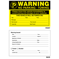 "Parking Violation Warning Sticker - 5"" x 8"""