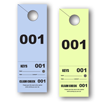 3 Part Valet Parking Hang Tag