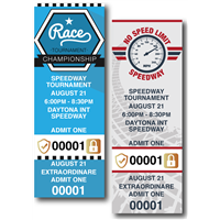 Motor Speedway Tickets with Security Features