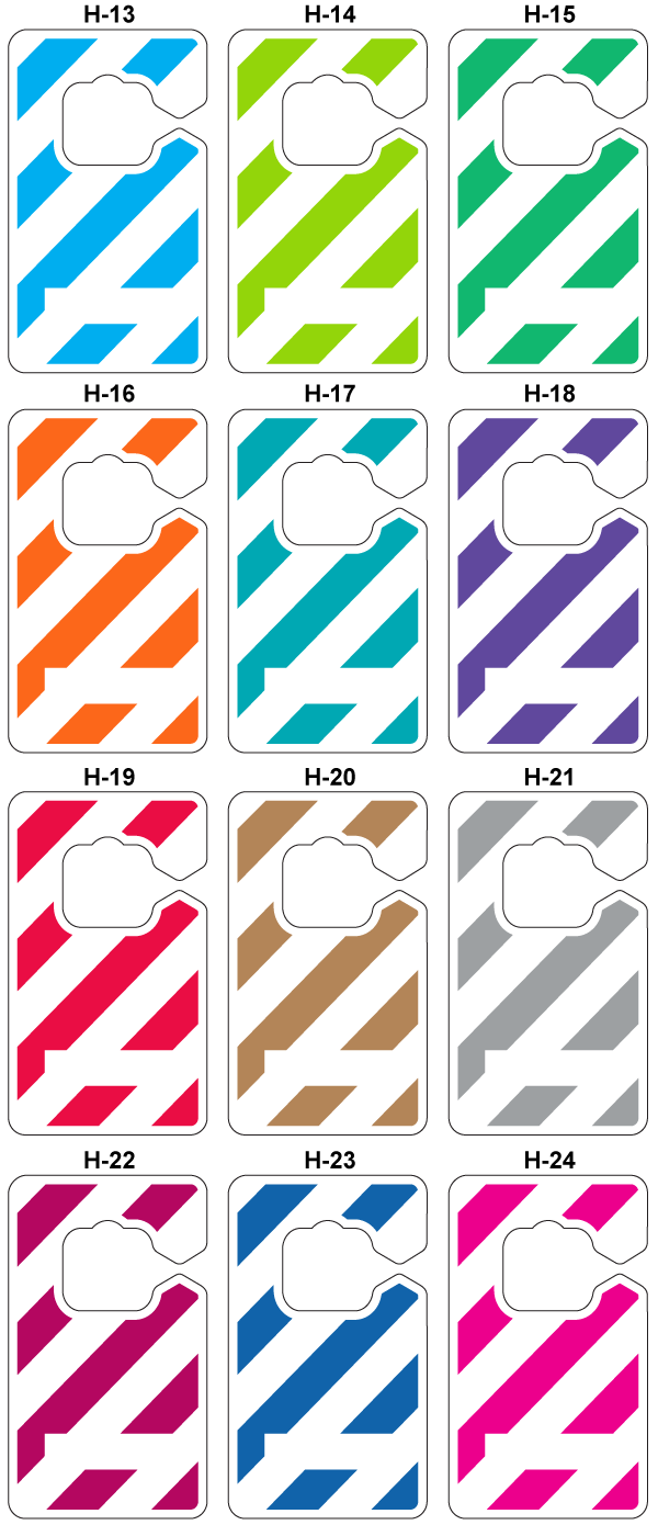 Colored stripe designs for parking permit hang tags